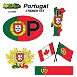 Portugal - Set of Vehicle Stickers. Great Gift idea for Your Friend or Family Member Perfect for Outdoor or Indoor use.