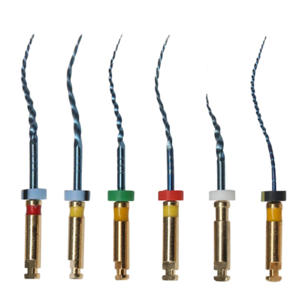 Dorit Freedom 5 Packs Endodontic Niti Blue Rotary File for Bending Curved Root Canal 25mm (6pc per Pack)