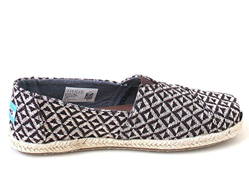 TOMS Classic Chocolate Brown Diamond Geo Woven Rope Sole Slip