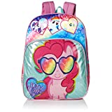 My Little Pony Big Girls Pinkie Pie Pony Multi Compartment 16 Inch Backpack, Pink, One Size