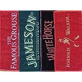 Set von 4 Verschiedene Whisky Bar Handtücher