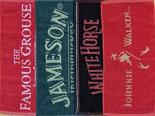 Pub Paraphernalia - Juego de 4 toallas de bar, diseño de marcas de whisky: Amazon.es: Hogar