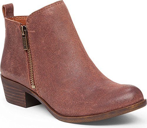 Lucky Brand Women's Basel Bootie,Russet Suede (EXCLUSIVE),US 10 - Brands Designer Exclusive