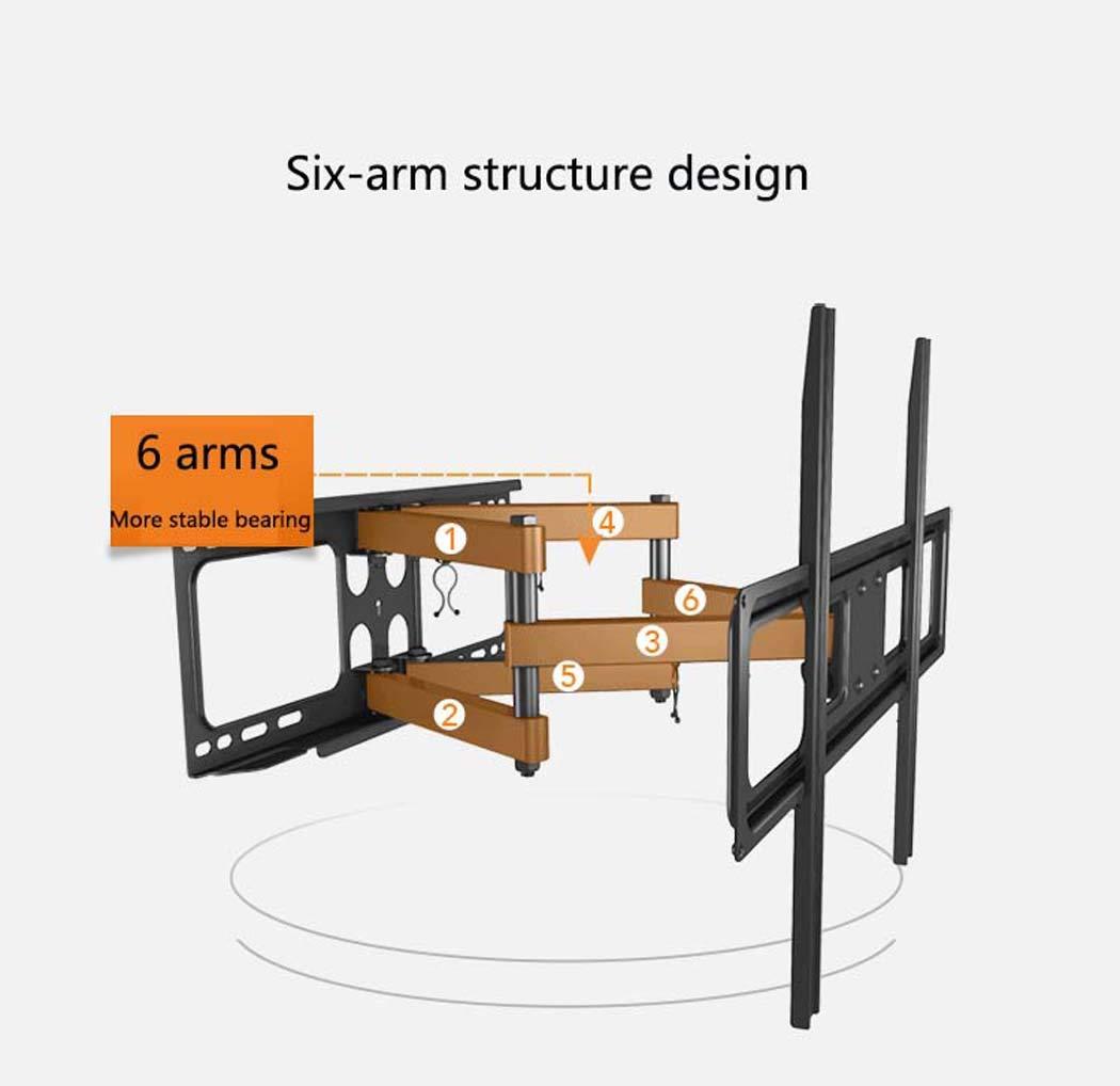 Tv の壁ブラケット、37-70 インチ LED LCD のフラットスクリーンのテレビのための適用範囲が広い調節可能な回転強い腕 Tv の壁の台紙ブラケット   B07HFMTPY2