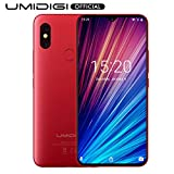 UMIDIGI F1 Play with 6GB+64GB Memory Android 9.0 48MP+8MP+16MP Cameras 5150mAh 6.3' FHD+ Global Version Smartphone Dual 4G LTE Cell Phone Unlocked (Red)
