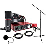 Focusrite Scarlett 2i2 Studio Pack & Recording Bundle - 2nd Gen w/ Pro Tools, Includes,Universal Pop Filter Microphone Wind Screen,10 Premier Series XLR Male-XLR Female 16AWG Cable&Microphone Stand