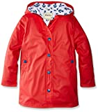 Hatley Big Girls Red Anchors Splash Jacket, Red Anchors, 12