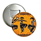 Dance People Mexico Totems Mexican Flute Round Bottle Opener Refrigerator Magnet Pins Badge Button Gift 3pcs