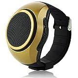 Speaker Watch Wearable Speaker Mini Sports Bluetooth Speaker Smart Bracelet Speaker Wrist Music Player Handsfree Call FM Radio with TF Card Slot for Boys Girls Kids Android Smartphones