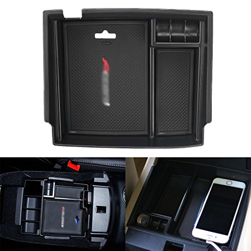Black Center Console Armrest Box Secondary Storage Interior Organizer Glove Box for Honda Accord 2013 -2017