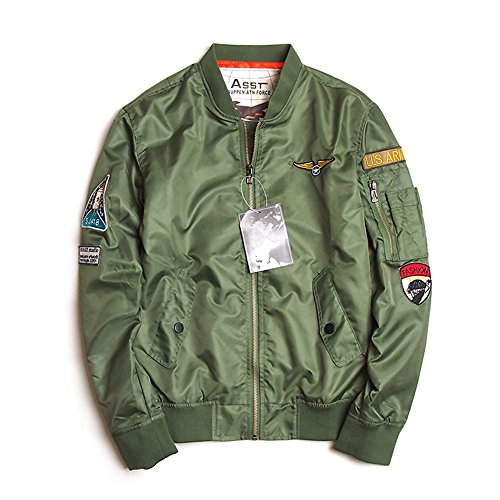 Pilota Moda Army Da Giacca Classico Bomber Uomo Green Antivento E 3lue® Alla aqtzvwxWnY