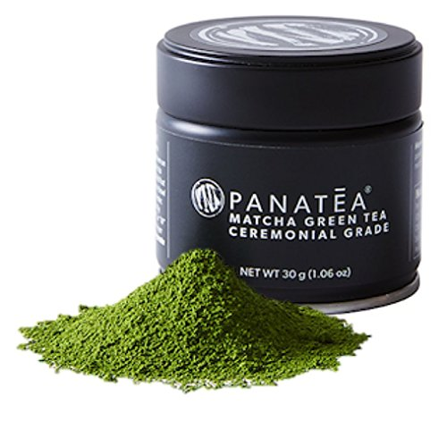 PANATEA Ceremonial Grade Matcha Green Tea Tin 100% Pure Japanese Matcha Powder - 30 Grams (1 Month Supply) - All Natural Non GMO - Sustained Energy - Antioxidants - Metabolism Support