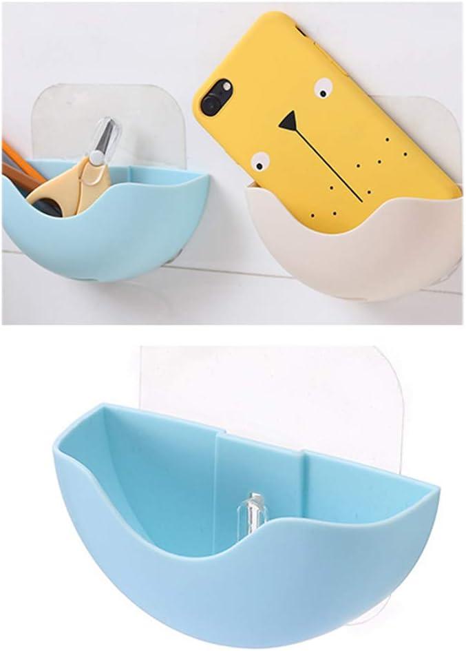Yardwe 4PCS Pack Soporte de jab/ón Multiusos con Ventosa Esponja de Secado Organizador de Utensilios de Cocina Azul, Rosa, Beige y Gris