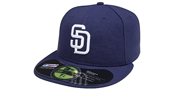 size 40 a2b8a d9fb7 Amazon.com  New Era Men s Authentic Collection 59FIFTY  - San Diego Padres   Clothing