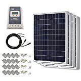 HQST 400 Watt 12 Volt Polycrystalline Solar Panel Kit with 40A MPPT Charge Controller