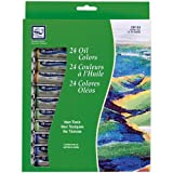 Loew-Cornell 12-Milliliter Oil Paint, 24-Pack, Assorted