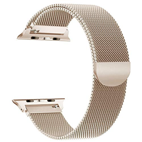 Cocos Compatible Apple Watch Band Mesh Milanese Loop Stainless Steel Compatible iWatch Band Compatible Apple Watch Series 4 (40mm 44mm) Series 3 2 1 (38mm 42mm)