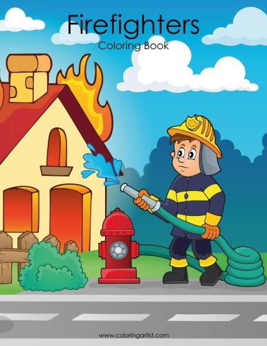 Firefighters Coloring Book 1 (Volume -