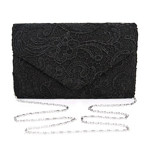 Buy black lace handbag