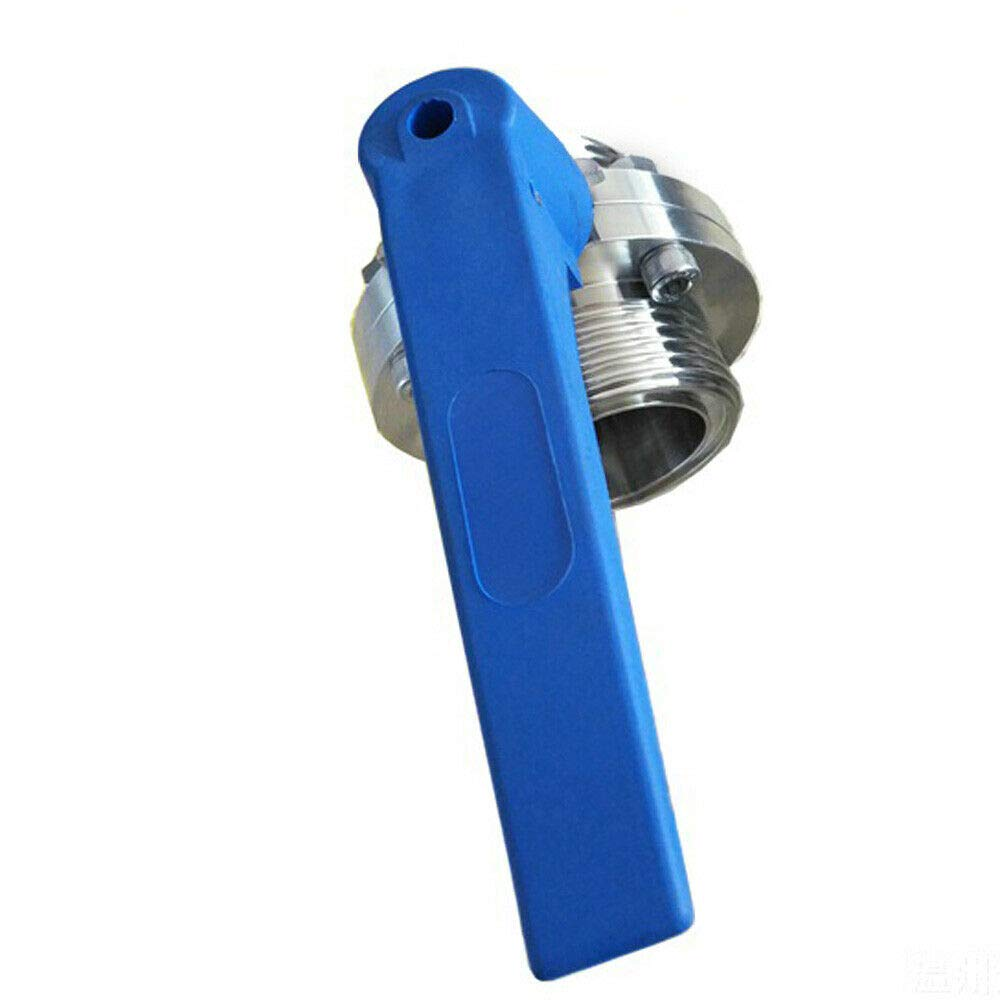 51mm Sanitary Tri Clamp Butterfly Valve with Trigger Handle Stainless Steel
