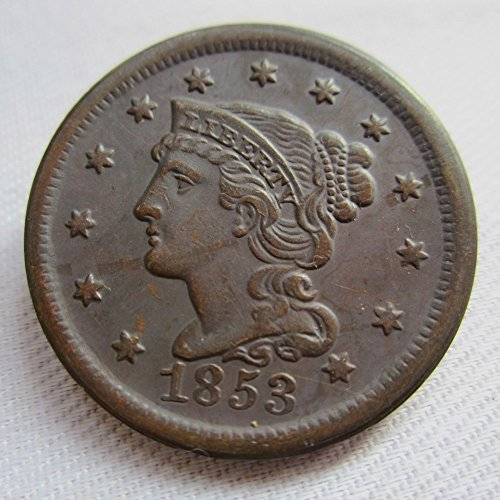 1853 Large Cent - 1853 USA Braided Hair Large Cents Coins COPY