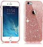 TOZO Case for iPhone 6s Plus SHINY Series [Bling Crystal] Ultra Thin Sparkle Premium 3 Layer Hybrid Semi-transparent Lightweight / Exact Fit / Soft Case for iPhone 6 Plus/6s Plus - 5.5 inch Pink
