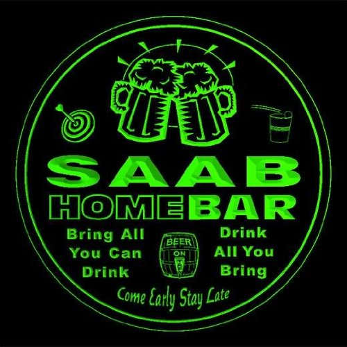 4x ccq38818-g SAAB Family Name Home Bar Pub Beer Club for sale  Delivered anywhere in Canada