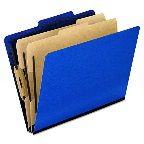 Resistant Colour (Pendaflex Moisture-Resistant Color Classification Folders, Letter Size, 6 Section, Blue, 2/5 Cut, 10/BX (1257BL))