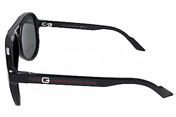 d8485ec084c Gucci Sunglasses GG 1627  S D28R6 Acetate plastic Black Grey Green  Amazon. co.uk  Clothing