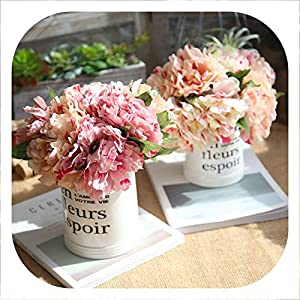 Memoirs- Artificial Flowers for Decoration Silk Peony Bouquet Artificial Peonies Fake Flowers Wedding Home Decoration 5 Branches/Bundle 61