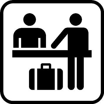 Check In Registration Front Desk Information Hospitality Hotels METAL SIGN 12 X