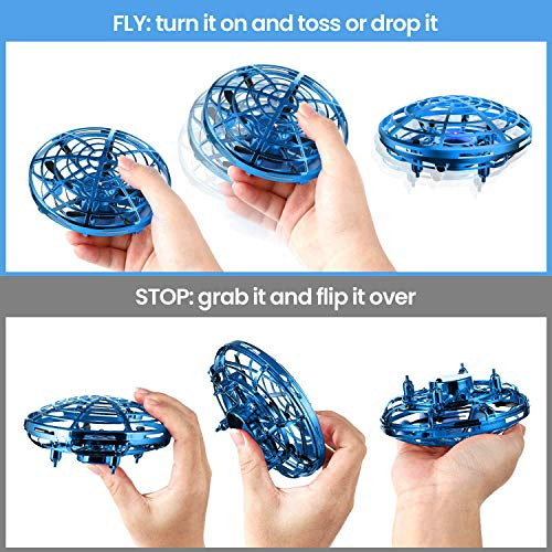 Bix Flying Toys Drone, Hand-Operated Flying Ball, Interactive Infrared Induction Helicopter Ball 360° Rotating Shinning LED Lights, Flying Toy Boys Girls Kids Holiday Birthday Gifts by Bix (Image #2)