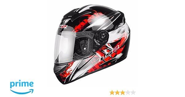 LS2 FF351 Wolf - - Casco de Moto Casco Integral - ACU Oro Rojo Rojo Talla:Large: Amazon.es: Deportes y aire libre
