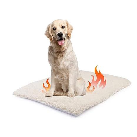 Surenhap Colchón Cama para Perros Manta de Mascotas autocalentable para Gatos y Perros Size L: