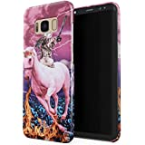 Glitbit Samsung Galaxy S8 Plus Case Unicorn Cat Warrior Kitten Trippy Galaxy Space Kitty Caticorn Funny Cats Thin Design Durable Hard Shell Plastic Protective Case For Samsung Galaxy S8 Plus