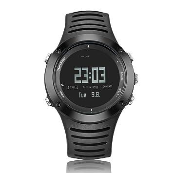 WWGG Reloj Deportivo De Presión Brújula Digital Indicador De Altura Barómetro Cronógrafo Alarma Podómetro Reloj Deportivo
