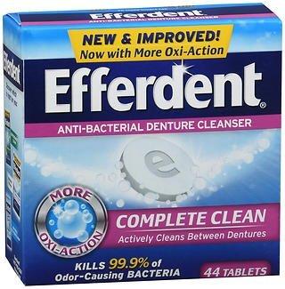 (Efferdent Denture Cleanser Tablets Anti-Bacterial - 44 ct, Pack of 3)