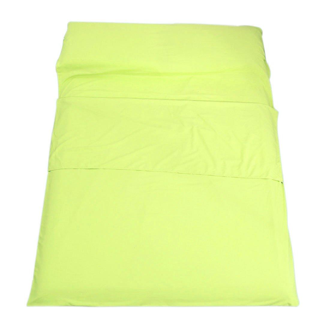 "enerhu Sleepingバッグライナーホテル大人用シート軽量ポータブル旅行キャンプ睡眠袋シングルダブルサイズ 160*210cm/63*83"" DOUBLE MA0554-5-3L/QLUS B07BLTM9BK 160*210cm/63*83"" DOUBLE,5# Yellow-green"