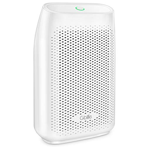 GBlife Electric Dehumidifier, Portable Air Dehumidifier with 700ml Water Tank, Touch Control Auto Off Ultra Quiet Dehumidifier for Home, Office, Bathroom, Kitchen (White)