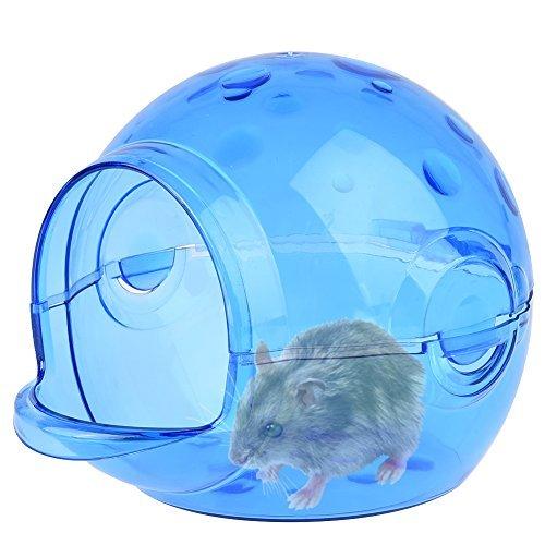 (Petacc Cute Hamster Sand Room Eco-friendly Hamster Bathroom House Harmless Chinchilla Bath House, Suitable for Hamsters (Blue))