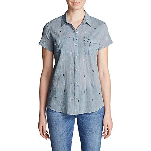 リダクターに対処するラウンジEddie BauerレディースPackable半袖シャツ – 印刷