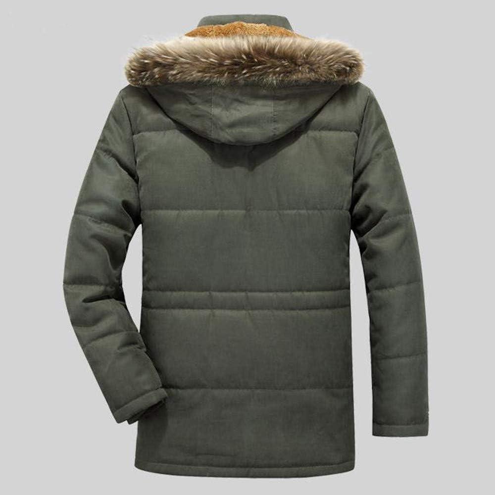 Men Plus Velvet Warm Overcoat Outwear Slim Mid-Long Trench Long-Sleeve Buttons Zipper Coat Detachable Hat Jacket M-7XL