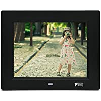 8 Inch Hi-Resolution LED Digital Photo Frame & HD Video Playback with 8GB SD Card-Black