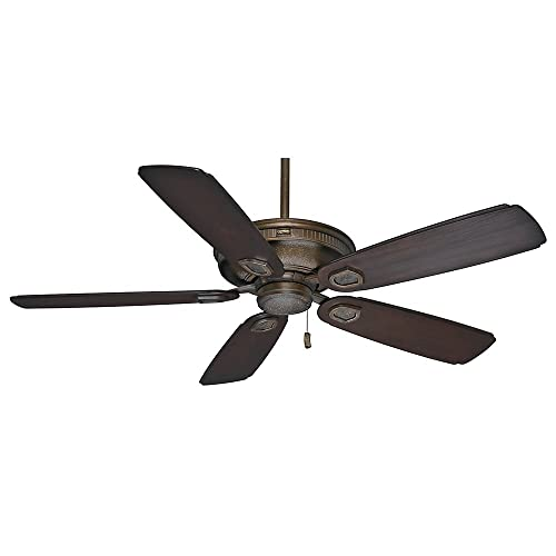 Casablanca Indoor Outdoor Ceiling Fan, with pull chain control – Heritage 60 inch, Aged Bronze, 59527