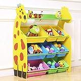 Toy Bin Organizer Kids Childrens Storage Box Playroom Bedroom Shelf Drawer (Color : Yellow, Size : Large)