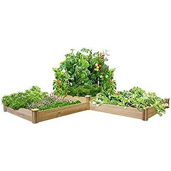 Greenes 4 Ft X 4 Ft X 21 In Tiered Cedar Raised Garden Bed Raised Garden Kits