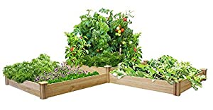 greenes fence two tiers dovetail raised garden bed patio