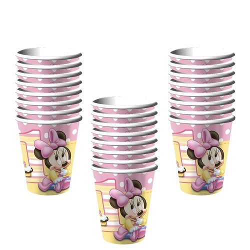 Minnie's Mouse 1st Birthday Cups Party 9 Oz-24 Pieces by Hallmark
