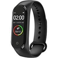 Zappos M4 Plus Bluetooth Wireless Smart Fitness Band for Boys/Men/Kids/Women | Sports Watch Compatible with Xiaomi, Oppo, Vivo Mobile Phone | Heart Rate and BP Monitor, Calories Counter