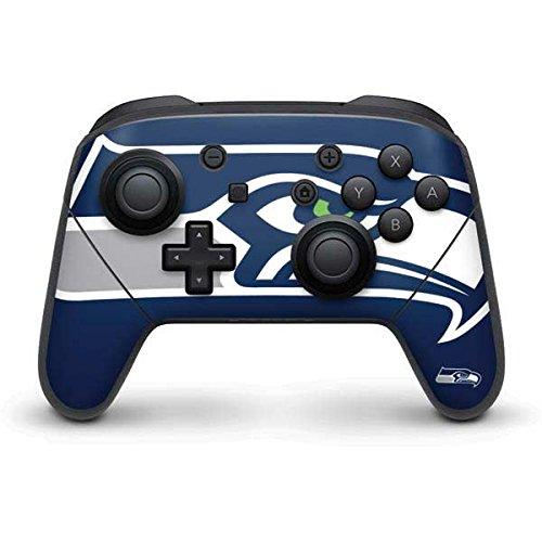 NFL Seattle Seahawks Nintendo Switch Pro Controller Skin - Seattle Seahawks Large Logo Vinyl Decal Skin For Your Switch Pro Controller by Skinit